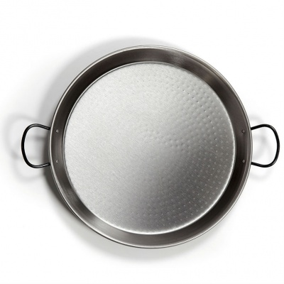 55cm Polished Steel Paella Pan