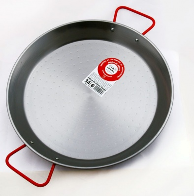 34cm Polished Steel Paella Pan - Garcima