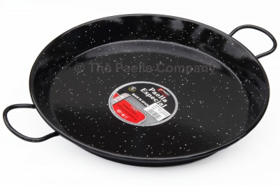 36cm Enamelled Steel Paella Pan for Ceramic, Induction & AGA hobs