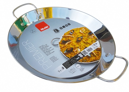 40cm Stainless Steel Paella Pan for Ceramic, Induction & AGA hobs
