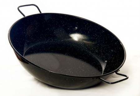 38cm Deep Enamelled Pan