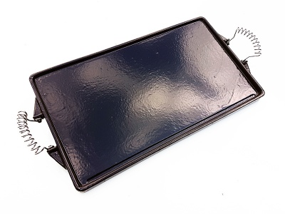 47cm x 27cm Rectangular Enamelled Cast Iron Griddle