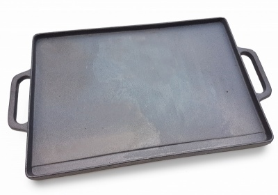 35cm x 50cm Reversible Rectangular Cast Iron Griddle