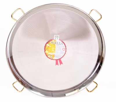 90cm Stainless Steel Paella Pan