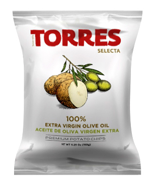 Torres Premium Spanish Crisps with 100% Extra Virgin Olive Oil (150g)
