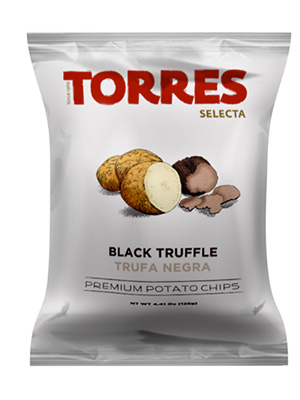 Torres Premium Spanish Crisps with Black Summer Truffles (125g)