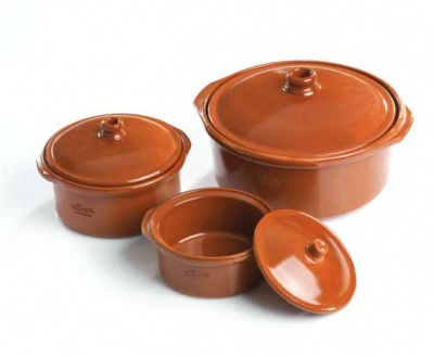 20cm Classic Terracotta Cocotte with Lid