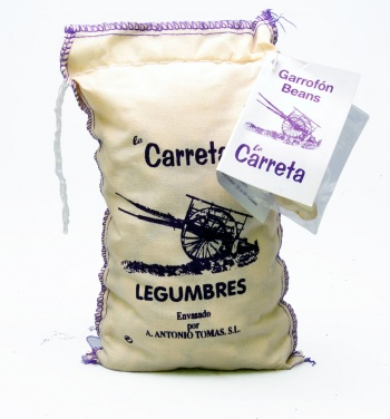 500g  Garrofón Beans Cloth Bag (White Lima Beans)