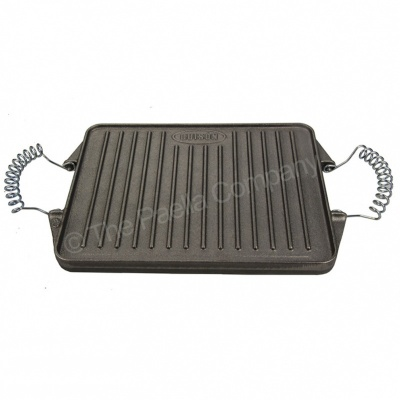 21cm x27cm Reversible Rectangular Cast Iron Griddle