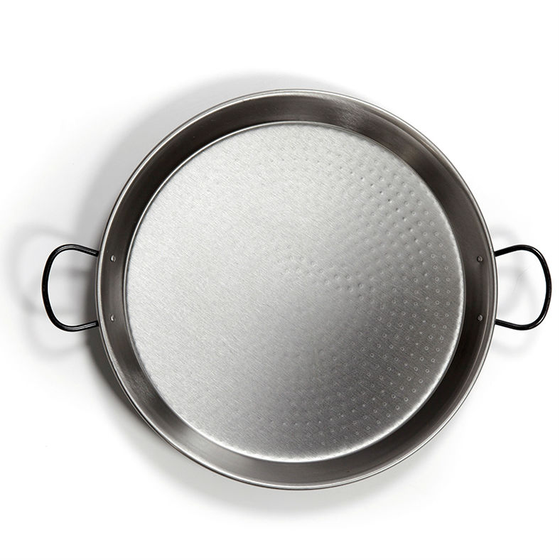 46cm Polished Steel Paella Pan
