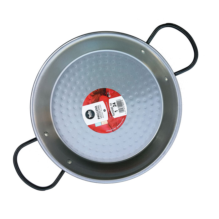 24cm Polished Steel Paella Pan