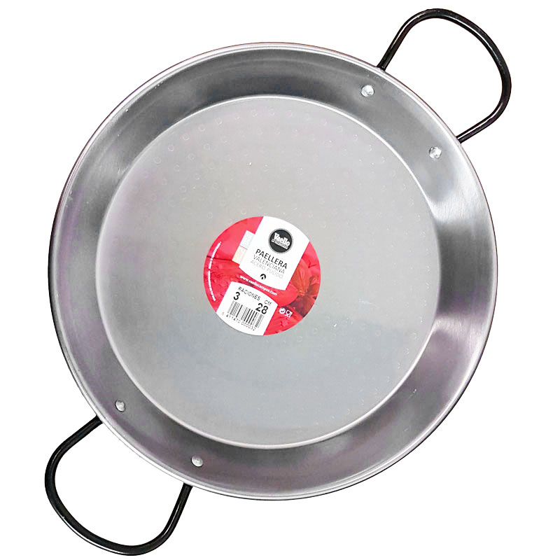 28cm Polished Steel Paella Pan