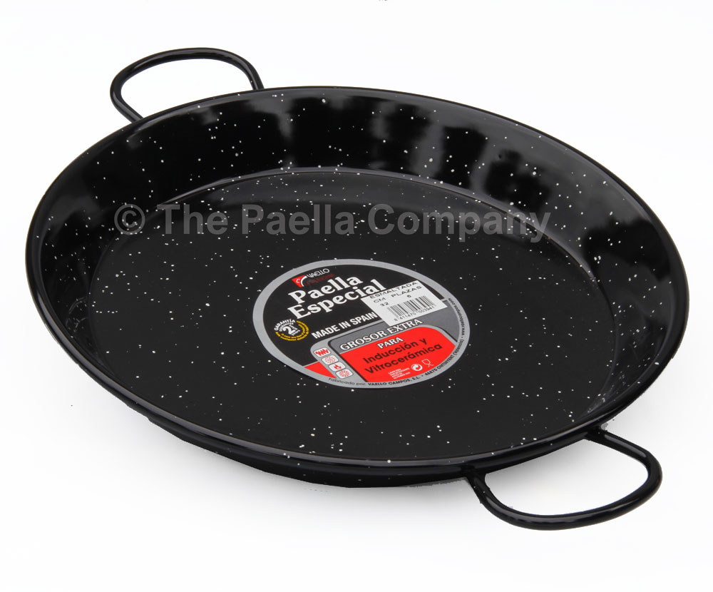 32cm Enamelled Steel Paella Pan for Ceramic, Induction & AGA hobs