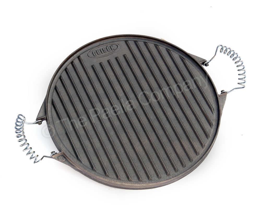 32cm Reversible Round Cast Iron Griddle
