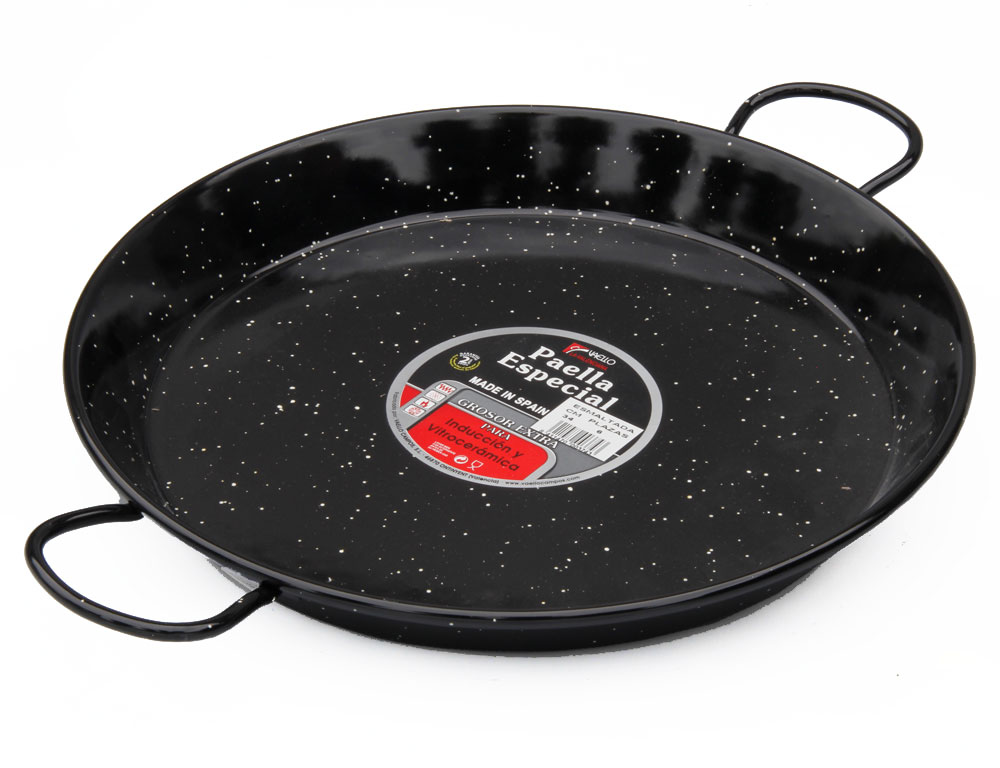 34cm Enamelled Steel Paella Pan for Ceramic, Induction & AGA hobs