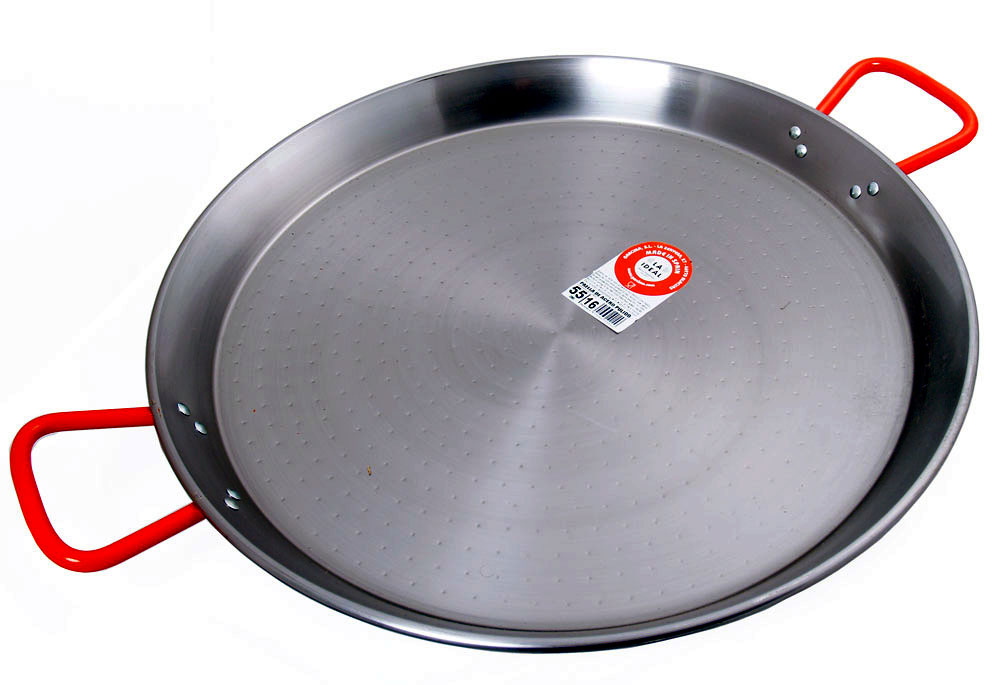 55cm Polished Steel Paella Pan - Garcima