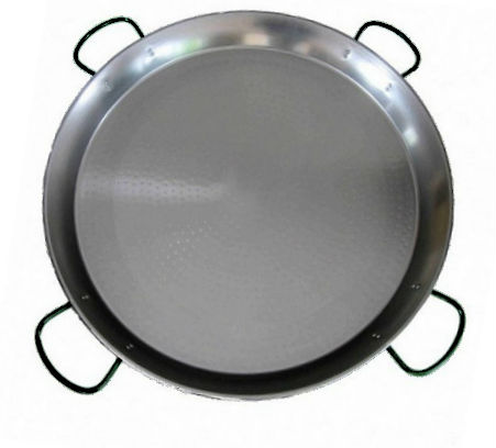 80cm Polished Steel Paella Pan