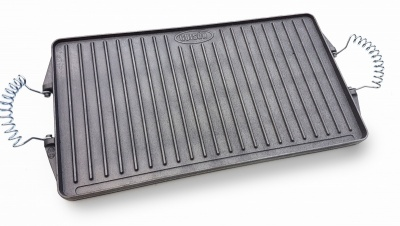 24cm x 43cm Reversible Rectangular Cast Iron Griddle