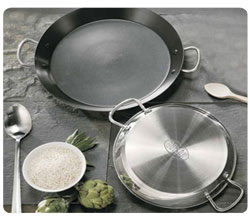 32cm Non-Stick Stainless Steel Paella Pan for Ceramic, Induction & AGA hobs