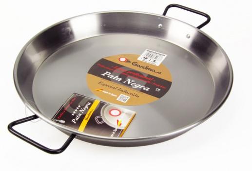 The Paella Company 38m Polished Steel Paella Pan