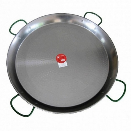 90cm Polished Steel Paella Pan