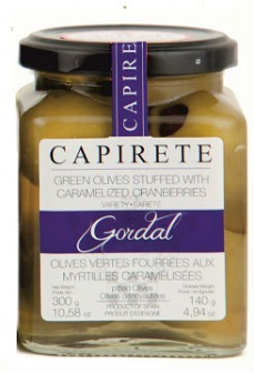 Capirete Gordal Olives stuffed with Caramelized Cranberries 300g