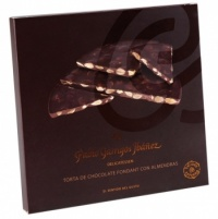 Premium Dark Chocolate Torta Turrón with Almonds 200g