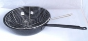 28cm Deep Frying Pan with Wire Basket