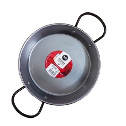 22cm Polished Steel Paella Pan
