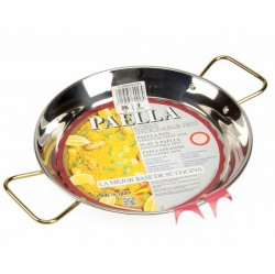 26cm Stainless Steel Paella Pan