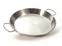 36cm Stainless Steel Paella Pan for Ceramic, Induction & AGA hobs
