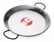 30cm Polished Steel Paella Pan for Ceramic, Induction & AGA hobs