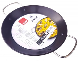 28cm Non-Stick Stainless Steel Paella Pan for Ceramic, Induction & AGA hobs