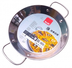 32cm Stainless Steel Paella Pan for Ceramic, Induction hobs & AGA's