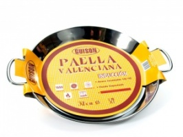 32cm Stainless Steel Paella Pan for Ceramic, Induction & AGA hobs