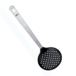 34cm Stainless Steel and Nylon Slotted Skimmer Spoon