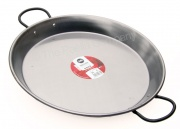 38cm Polished Steel Paella Pan for Ceramic, Induction & AGA hobs