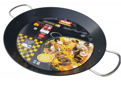 40cm Non-Stick Stainless Steel Paella Pan for Ceramic, Induction & AGA hobs