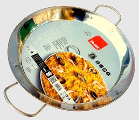 45cm Stainless Steel Paella Pan for Ceramic, Induction & AGA hobs