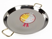 55cm Stainless Steel Paella Pan