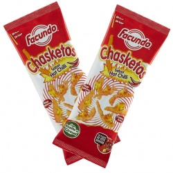 Hot Chilli Flavour Chasketos Corn Snacks