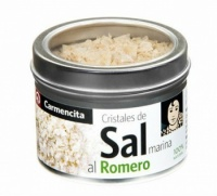 Finishing Sea Salt Crystals with Rosemary 80g Tin