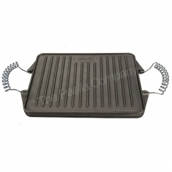 21cm x 27cm Reversible Rectangular Cast Iron Griddle
