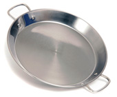 28cm Stainless Steel Paella Pan for Ceramic, Induction & AGA hobs