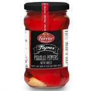Whole Roasted Red Piquillo Peppers with Garlic 290g