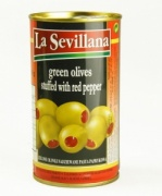 Manzanilla Olives stuffed with red pepper 350g Tin