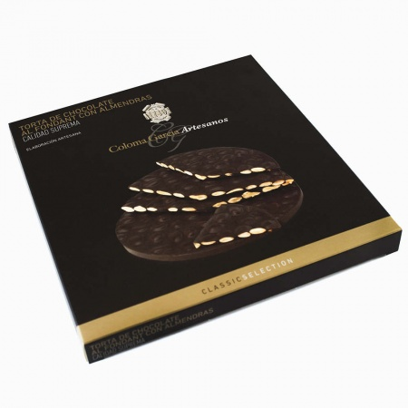 Dark Chocolate Torta Turrón with Almonds 200g